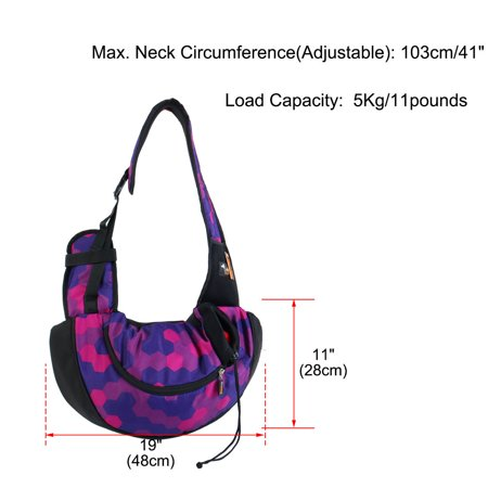 Onding Authorized Pet Carrier Single Shoulder Backpack Purple Fuchsia Geometric - image 7 de 8