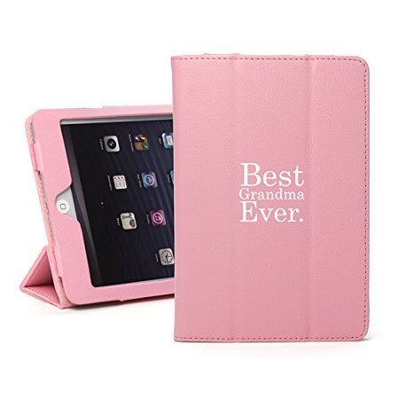 For Apple iPad Mini 4 Light Pink Leather Magnetic Smart Case Cover Stand Best Grandma