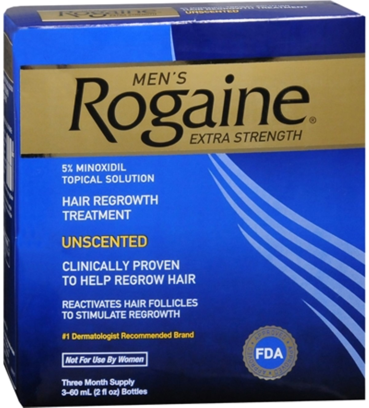 Rogaine Men's Extra Strength Unscented 6 oz (Pack of 6)
