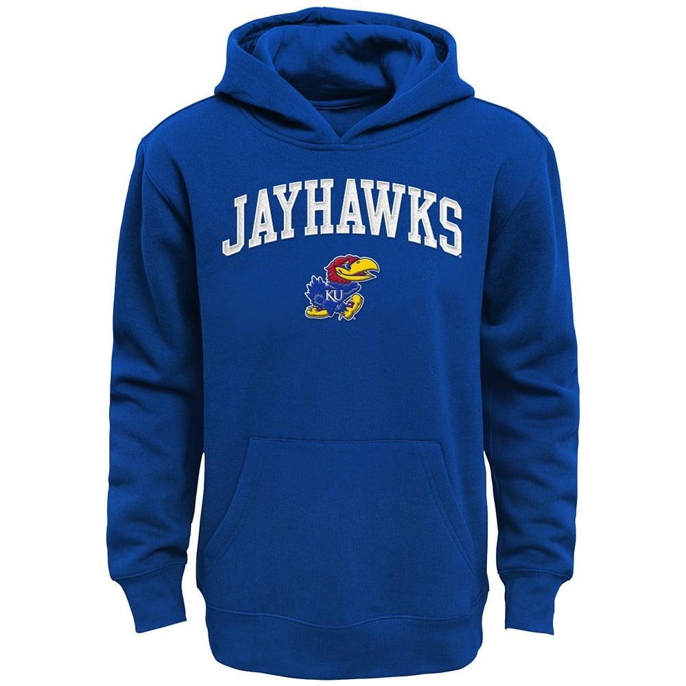 Kansas Jayhawks NCAA Primary Team Logo Blue Pullover Hoodie Fleece Youth (S-XL)