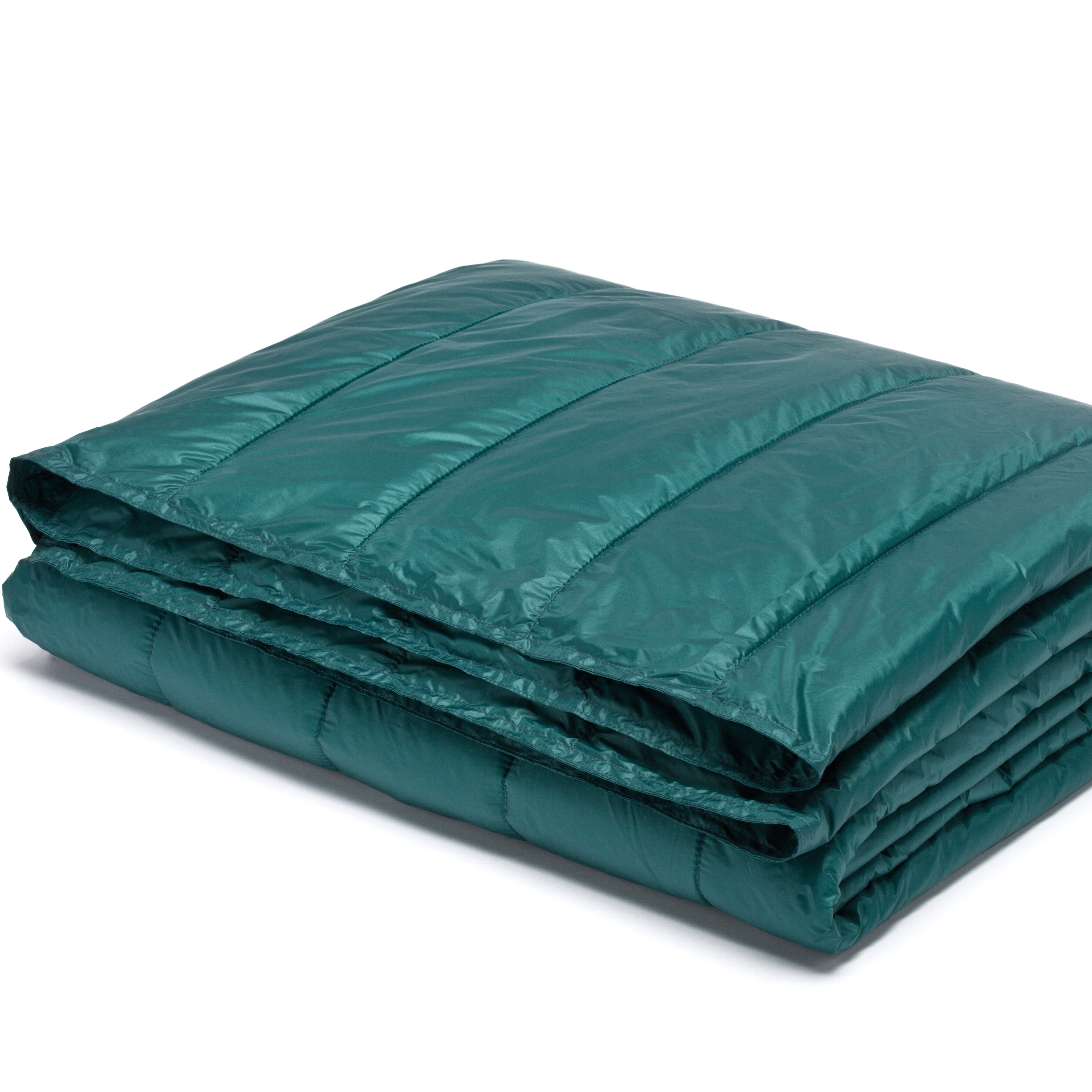 "PUFF 50"" x 70"" Packable Down Alternative Indoor/Outdoor Water Resistant Throw with Extra Strong Nylon Cover"