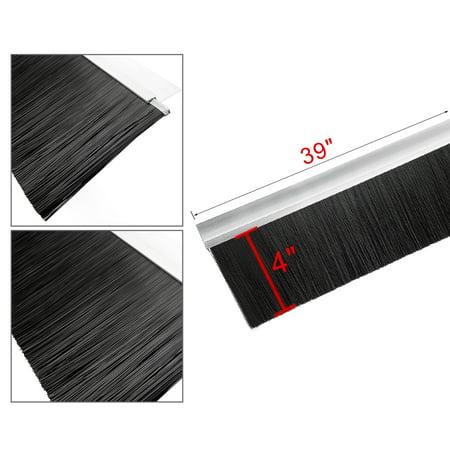Door Bottom Sweep h-Shape Base with 4-inch Black Nylon Brush 39-inch x 5-inch - image 3 of 5