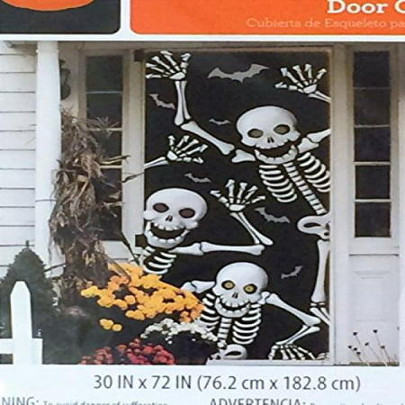 Skeleton Door Cover - Halloween Wall - Halloween Decorating Ideas For Classroom Doors