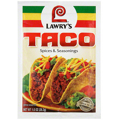 Lawry's Taco Seasoning Mix, 1.0 oz  (Pack of 24)
