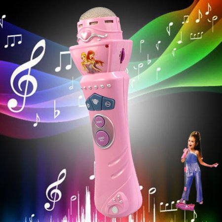 New amusing Wireless Girls Boys LED Microphone Karaoke Singing Kid Funny Music Toy