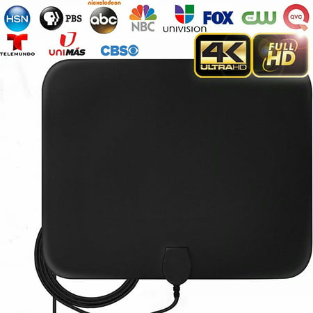 HDTV Antenna, 2020 New Indoor Digital HDTV Antenna, 130+ Miles Range with Amplifier Signal Booster for 4K HD VHF UHF Free Local Channels Support All TV