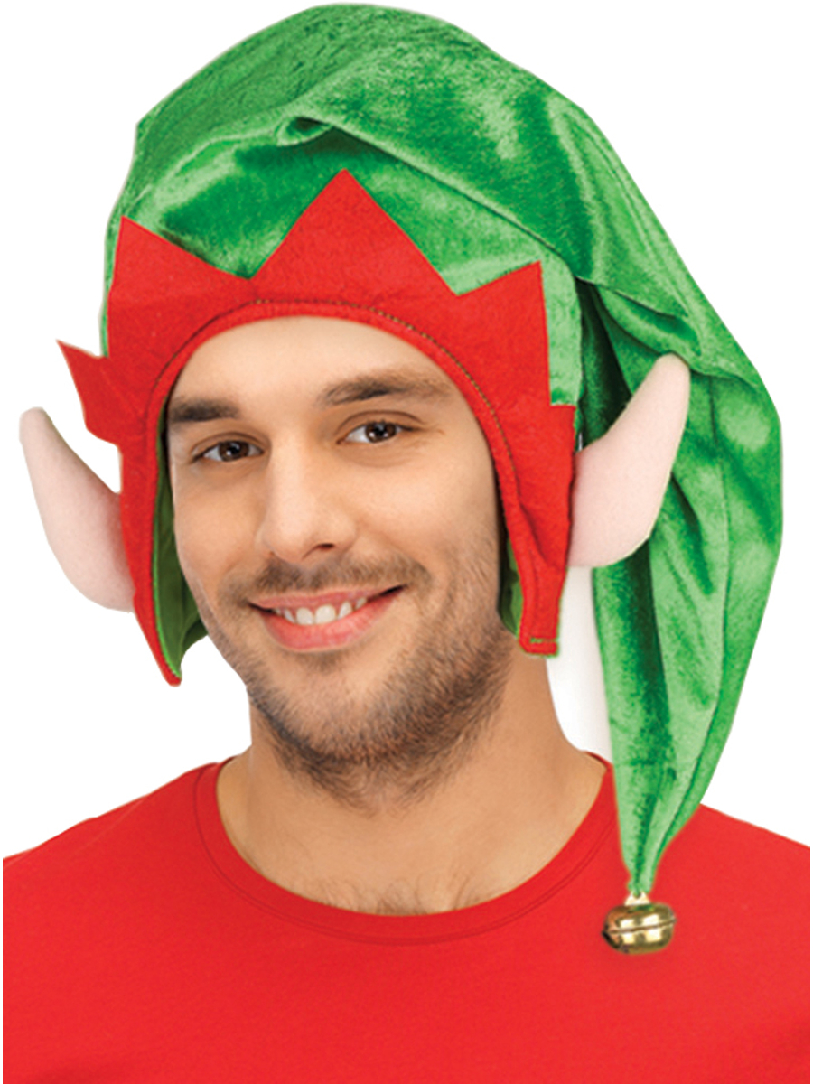 fc4b4e29d60fa Adults Christmas Santa s Toy Shop Elf Green Hat With Ears Costume Accessory  - Walmart.com