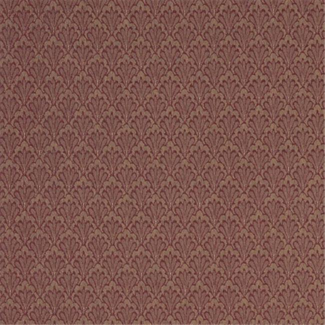 Designer Fabrics A429 54 in. Wide Burgundy And Gold Shell Upholstery Fabric