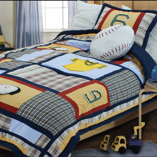 Textiles Plus Inc. Baseball Comforter Set