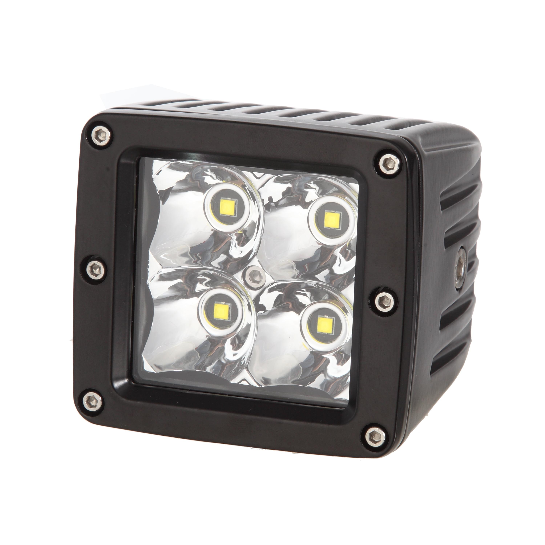 2 Row 24 LED, 72W. 8-Degree. S1-Side Mount, Rivets IPCW 11072-8 13 LED Spot Light Bar