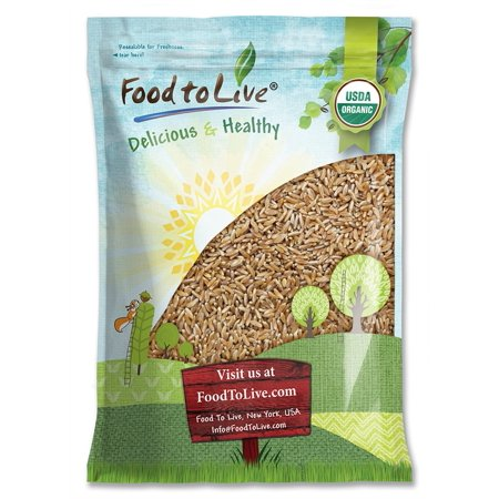 Salba Super Grain (Organic KAMUT Khorasan Wheat Berries, 5 Pounds — 100% Whole Grain, Non-GMO, Sproutable for Wheatgrass, Bulk - by Food to Live )