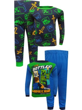 Minecraft 4PC Pajama Cotton Set (Little Boy & Big Boy)