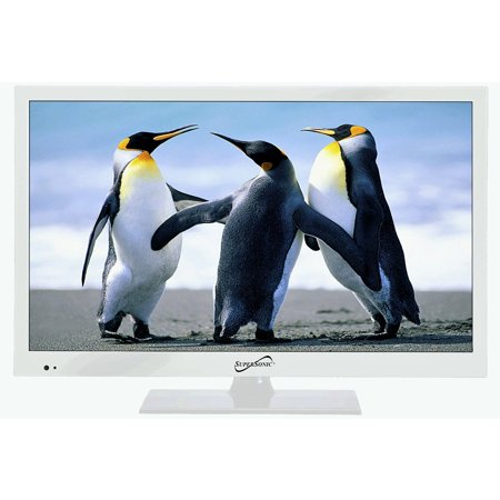 Supersonic SC-1511 White 15.6″ 1080p LED Widescreen HDTV with HDMI & USB Input Kitchen
