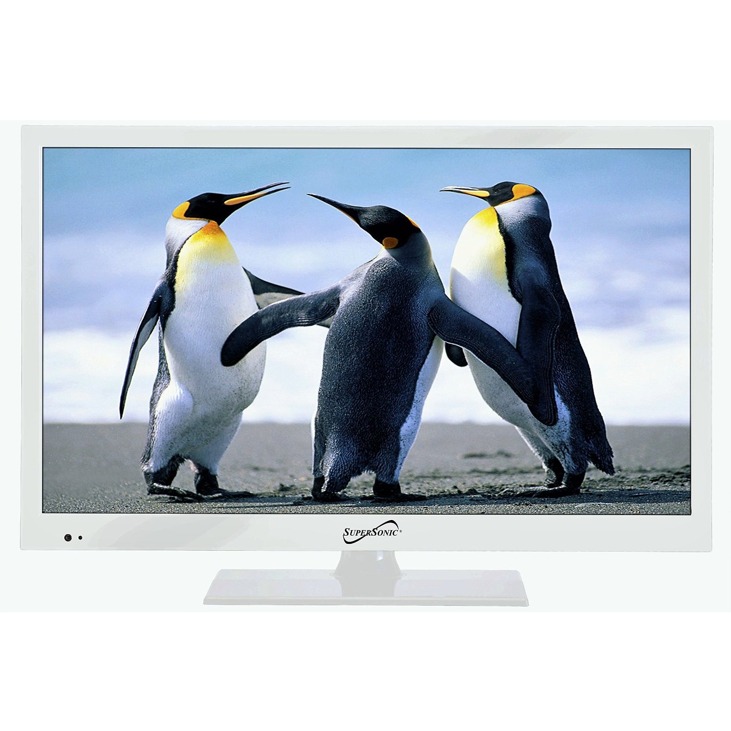 "Supersonic SC-1511 White 15.6"" 1080p LED Widescreen HDTV with HDMI & USB Input Kitchen"