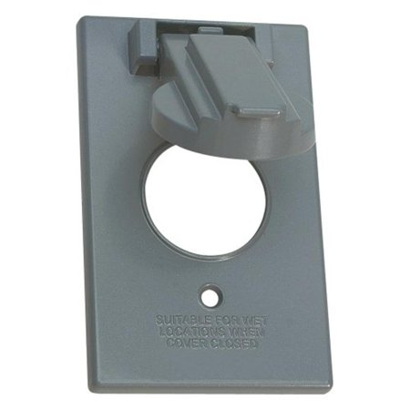 1-Gang Vertical Round Switch Cover, Grey Sigma Electric 14224 031857142247