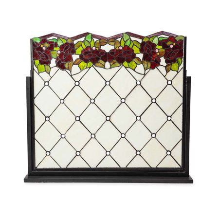 Chesterfield Stained Glass Decorative Fireplace Screen