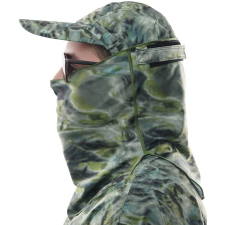 Aqua Design Adjustable Size Multipurpose Face Sports Water Camo Sun Protection Mask Breathing Holes Shield Pro+ Tube (Prom Masks)