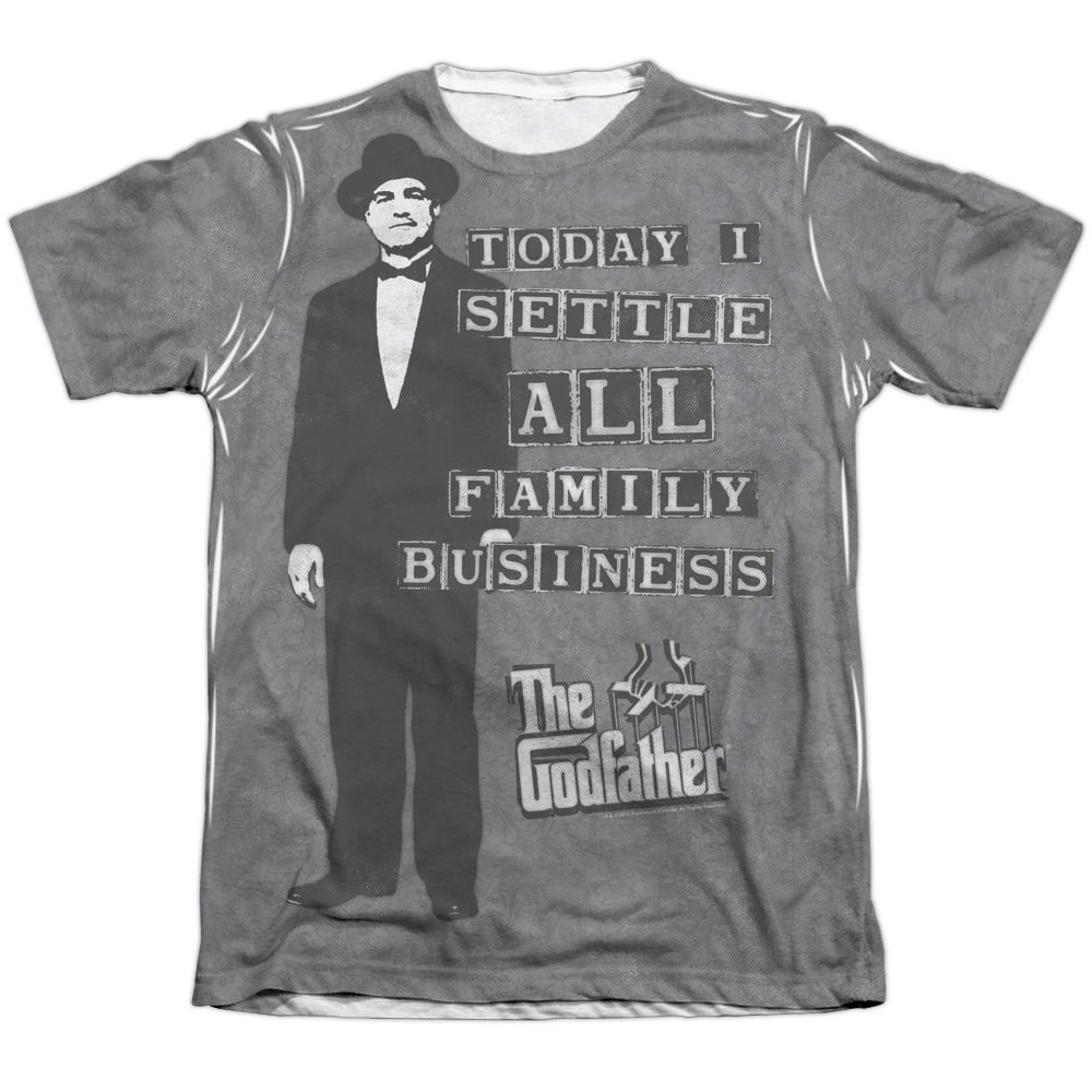 Trevco Godfather Family Business (Front Back Print) Mens ...