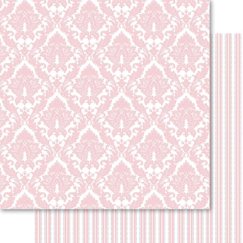 """Bella! My Romance Double-sided Cardstock 12""""x12""""-damask - Case Pack Of 10"""