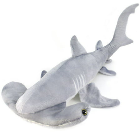 Shark Tale Lola (MC the Hammerhead Shark | Over 2 1/2 Foot Long Large Hammerhead Shark Stuffed Animal Plush | By Tiger Tale)