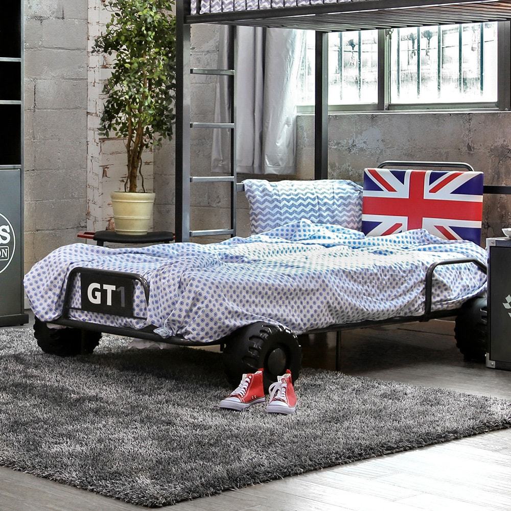 Furniture of America UK Born Racer Modern Gunmetal Youth Bed by FOA