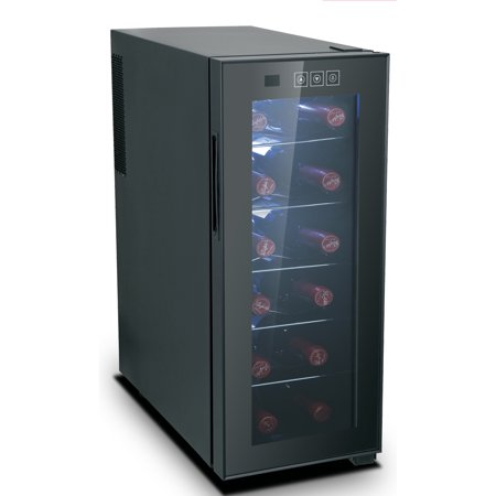 RCA, 12 Bottle Wine Cooler, Black RFRW1213