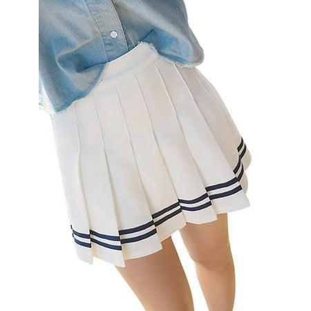 Lavaport Women Big Girls High Waist School Pleated Skirt](School Girl Skirts)