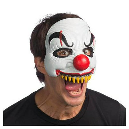 Happy Clown Adult Costume Latex Half Mask - Latex Clown