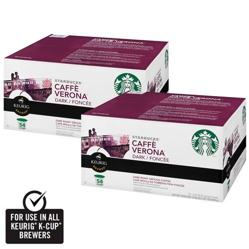 Starbucks Coffee Caffé Verona Blend Coffee 108 K-Cup Packs