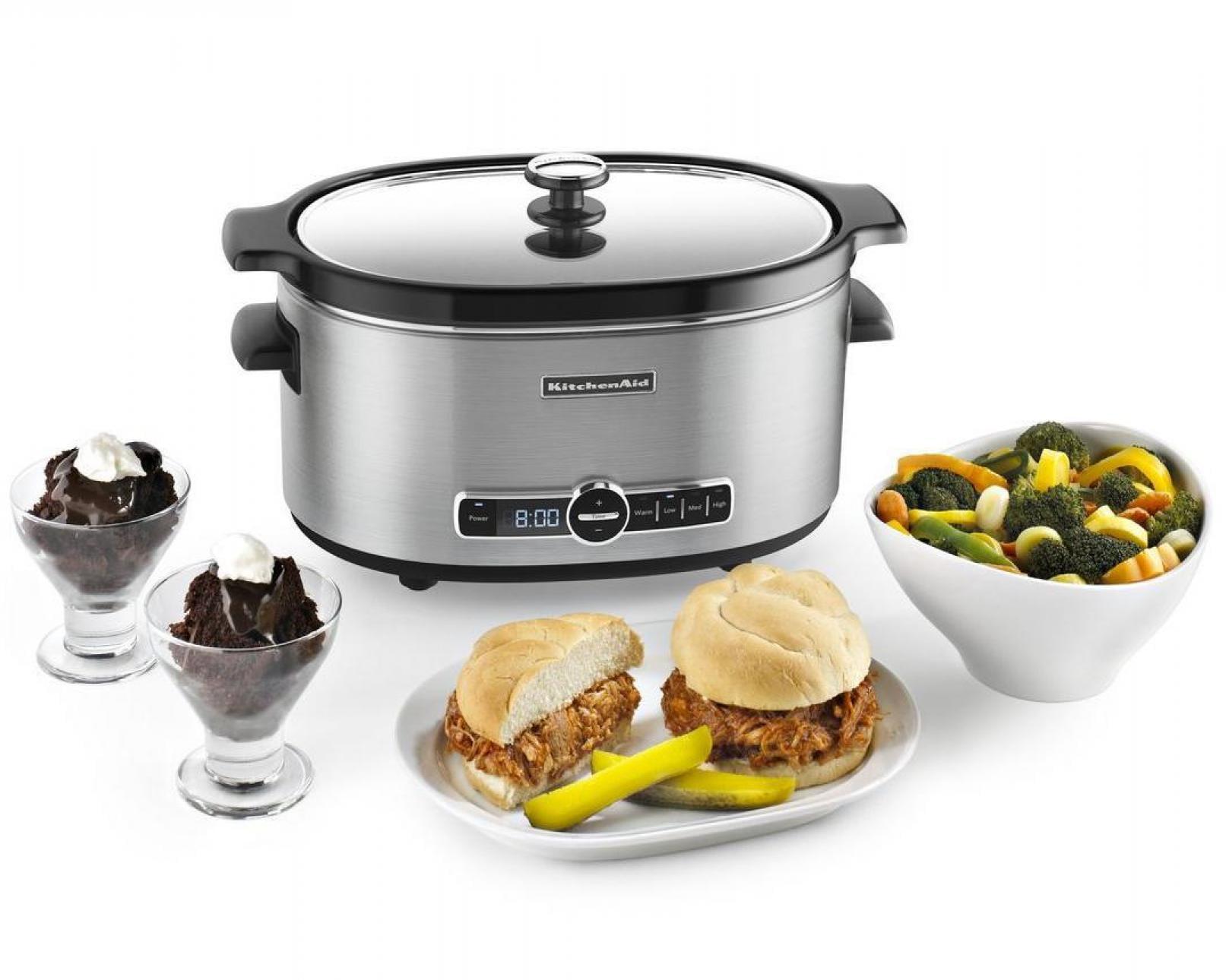 kitchenaid繧箘 6 quart slow cooker with solid glass lid walmart