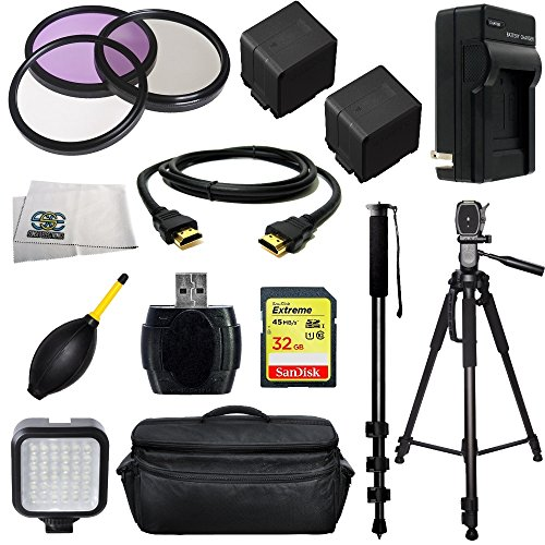 Professional Accessory Package For Panasonic AG-AC7PJHD/SD AVCHD HD Professional HD Camcorders Includes 3 Piece Filter K
