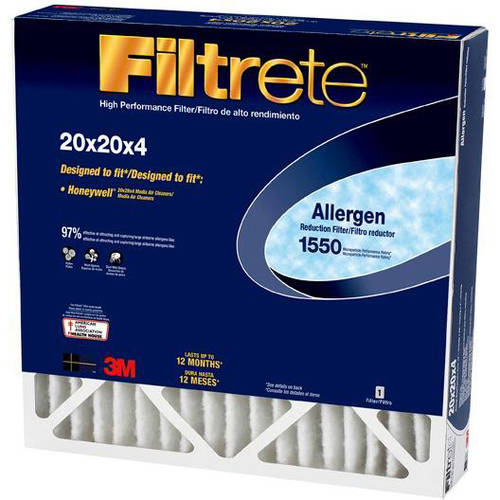"Filtrete Allergen Reduction Air and Furnace Filter, 20"" x 20"" x 4"", 1pk"