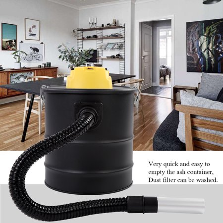 HURRISE 20 L 1000W Ash Vacuum Cleaner Fireplace Hoover Cylinder Coal Chimney ()