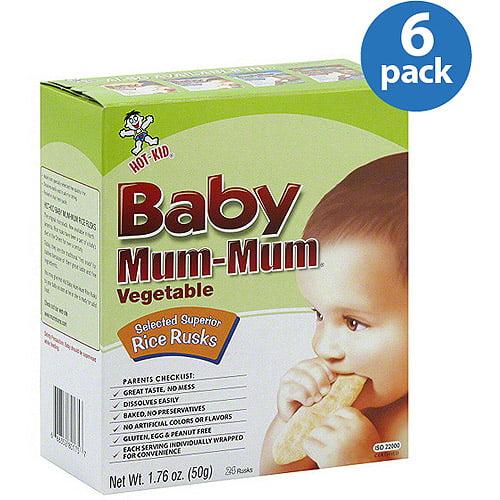 Hot Kid Baby Mum-Mum Vegetable Rice Rusks, 1.76 oz (Pack of 6)