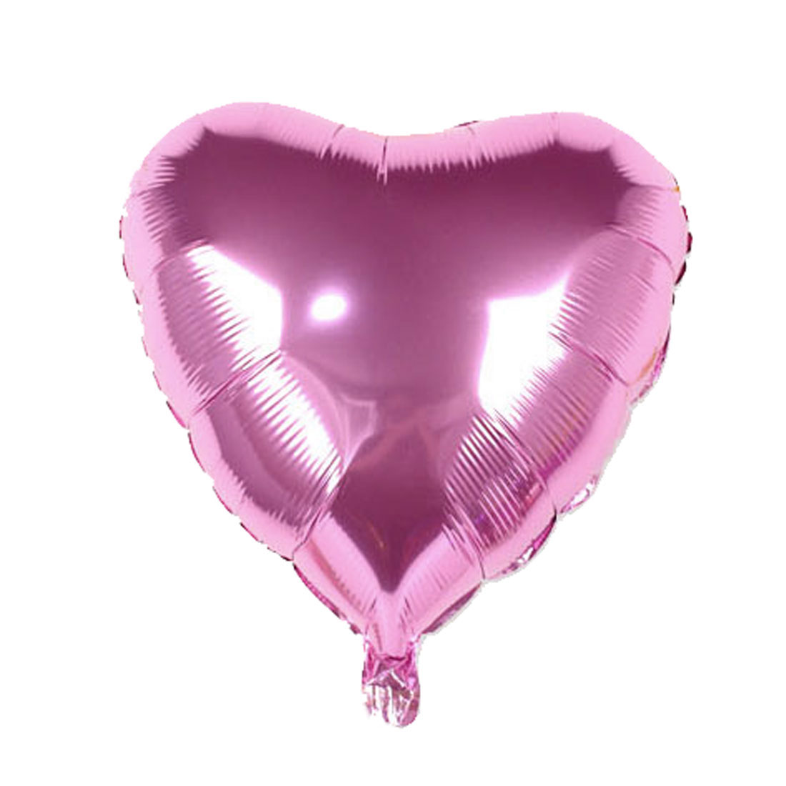 Unique Bargains Foil Heart Shape Balloon Wedding Birthday Celebration Decor Pink 23""