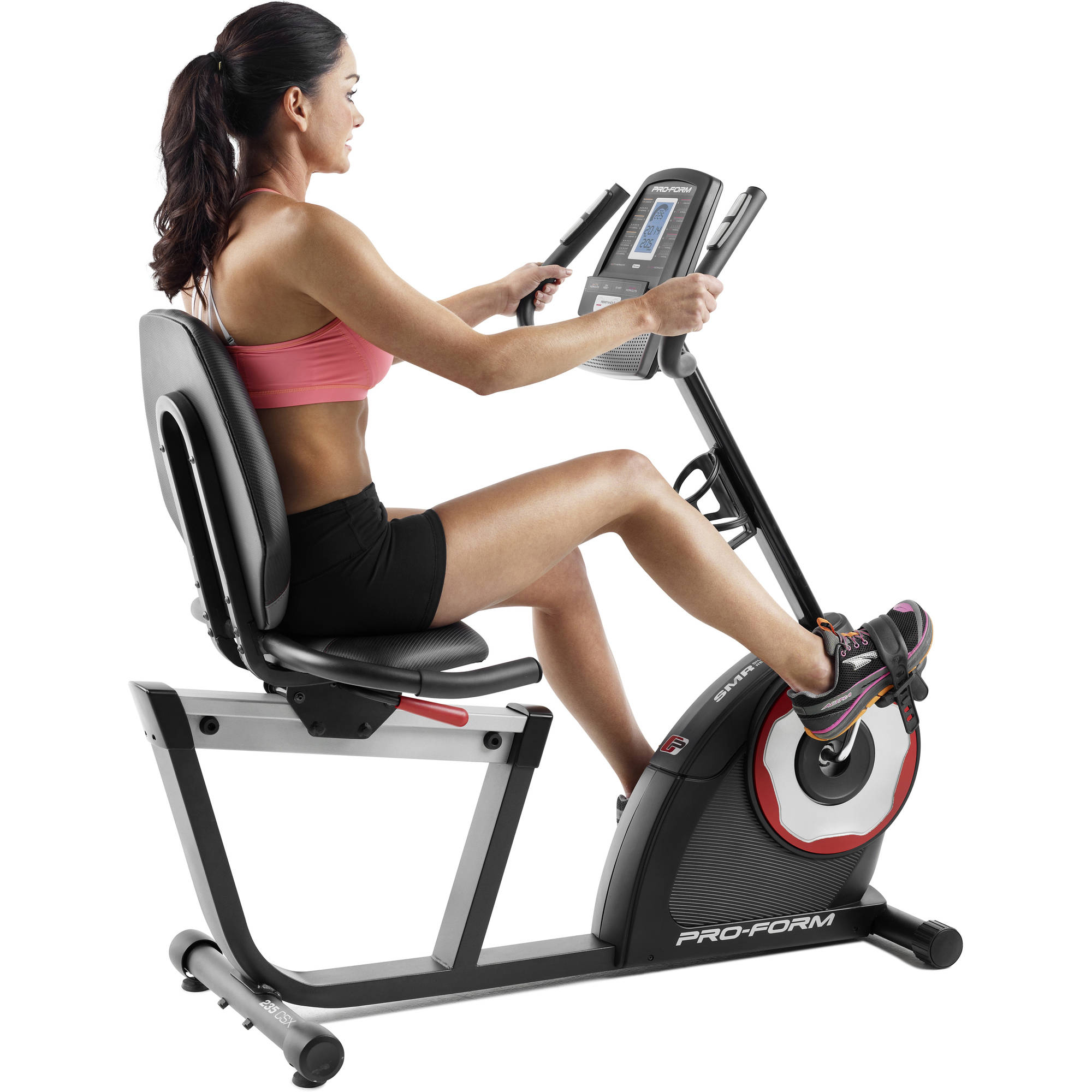 ProForm 235 CSX Recumbent Exercise Bike with 18 Workout Programs