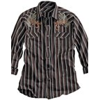 Tin Haul Western Shirt Mens Long Sleeve Snap Black 10-001-0068-0102 BL