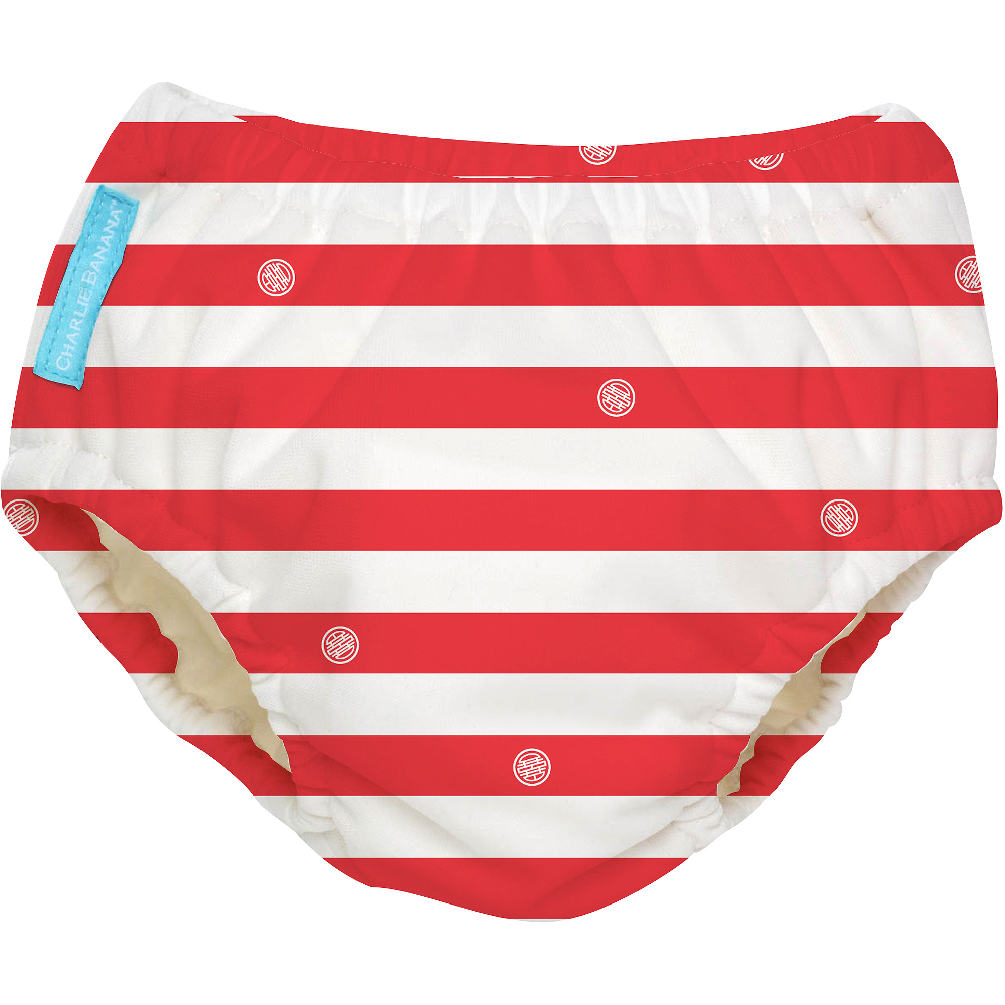Charlie Banana Extraordinary Swim Diaper, Red Stripes