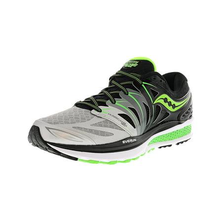 9ef71b3b Saucony Men's Hurricane Iso 2 Black / Silver Slime Ankle-High Running Shoe  - 8W