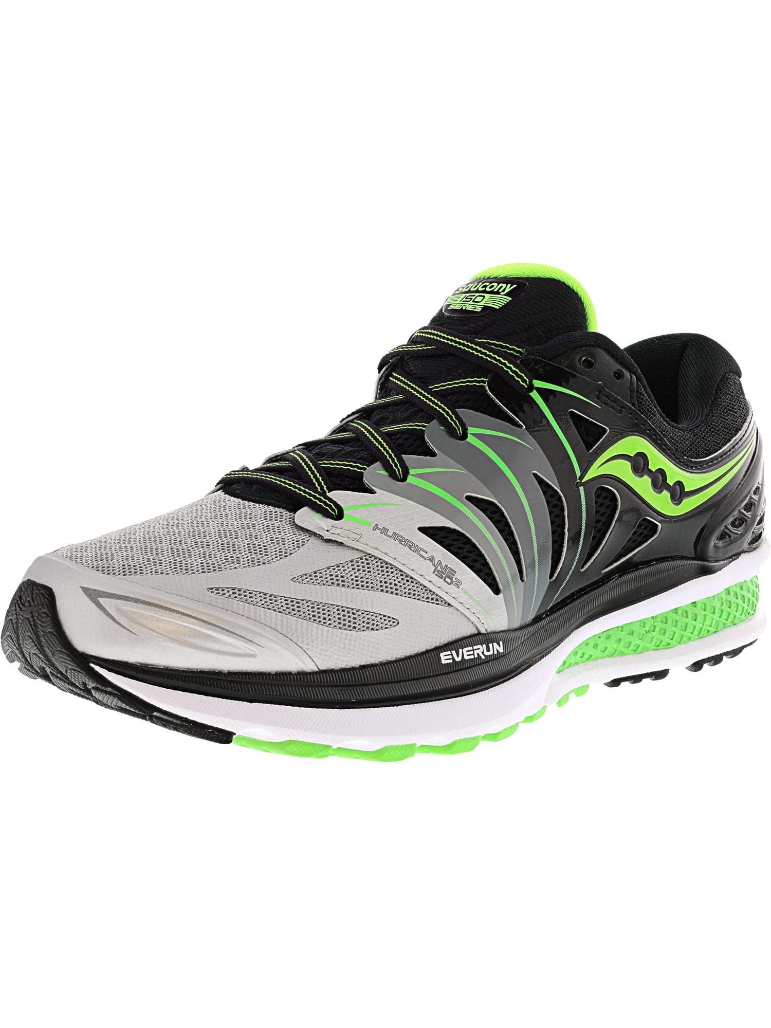 Saucony Men's Hurricane Iso 2 Black / Silver Slime Ankle-High Running Shoe - 8W