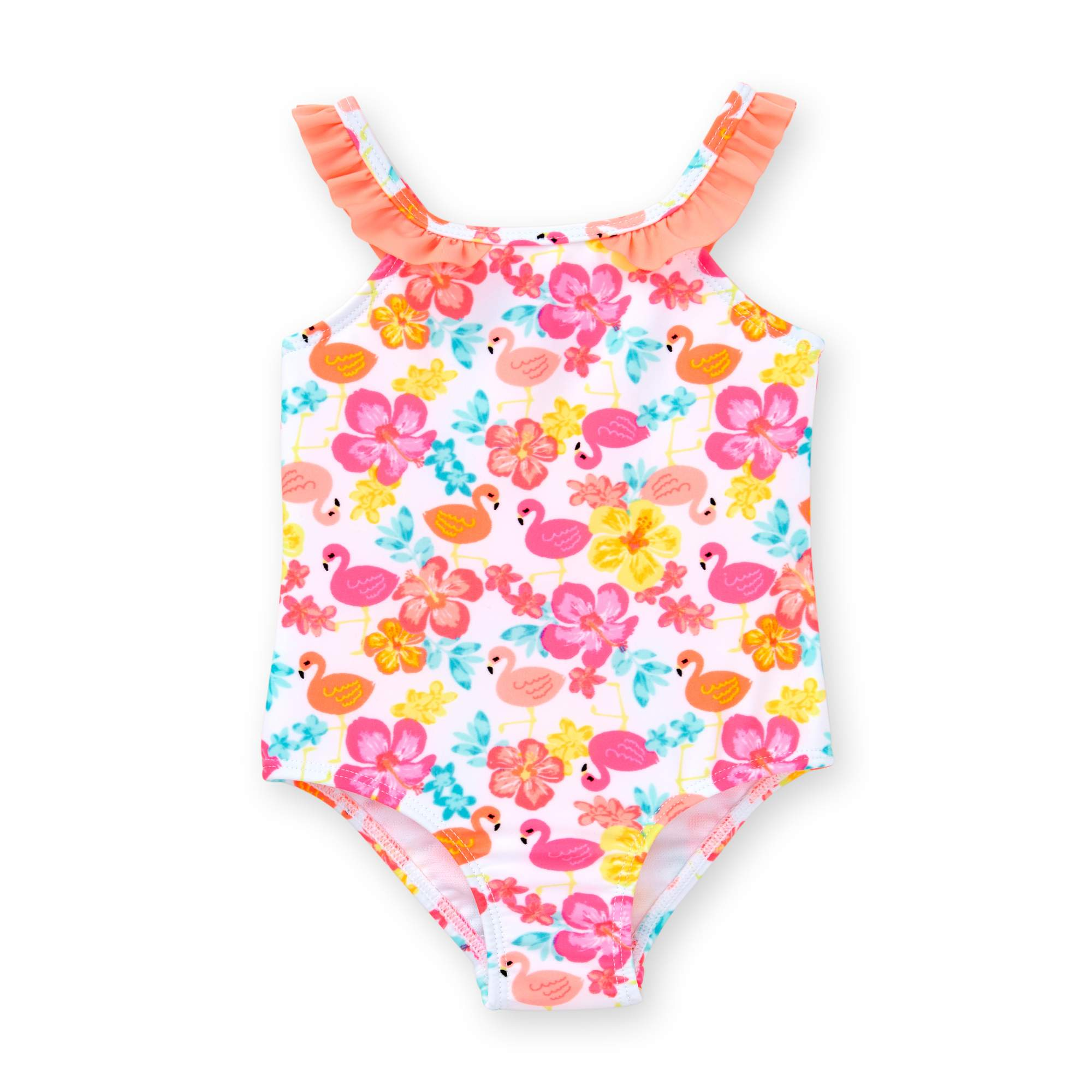 Healthtex Baby Girl Flamingo Print One Piece Swimsuit