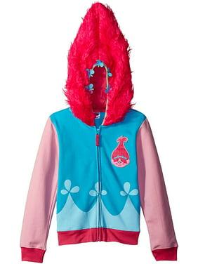 Trolls Movie Little Girls Costume Zip Hoodie, 14