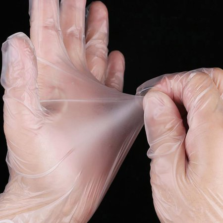 HealthStore 9 Inch Transparent Micro-Elastic Pvc Rubber Gloves Disposable Medical Gloves - image 6 of 6