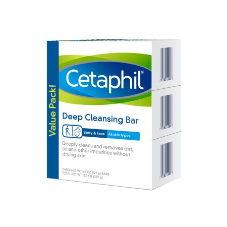3 Pack of Cetaphil Deep Cleansing Bars