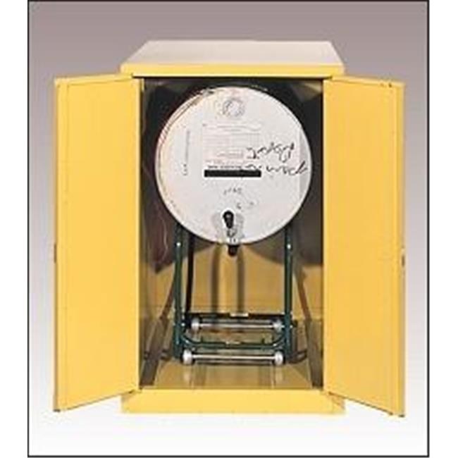 Eagle 1926 Safety Storage Drum Cabinets - Yellow Two Door Manual Vertical Drum