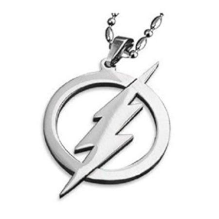 The Flash Metal Steel Tarnish Resistant Pendant Necklace Superhero J-259-A ()
