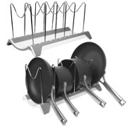 Room Essentials (2 Pack) Dish Drying Rack, Pot Rack, Pots Drying Rack, Pot Lid Organizer For Kitchen, Counter, Sink, Cabinet