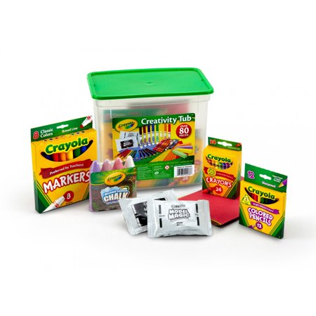 Crayola Creativity Tub, Art Supplies, Gift for Kids, 80