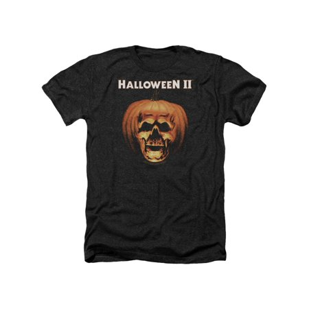 Halloween II Title Pumpkin Movie Adult Heather T-Shirt Tee