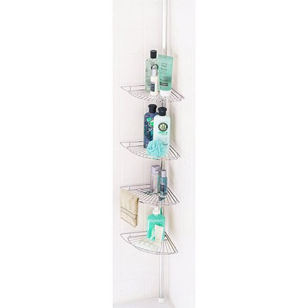 Bath Tension Pole Caddy  Chrome. Bath Tension Pole Caddy  Chrome   Walmart com